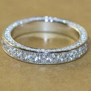 18K White Gold Diamond All Around Eternity Ring